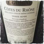 Guigal: Côtes du Rhône 2011, Rückseite