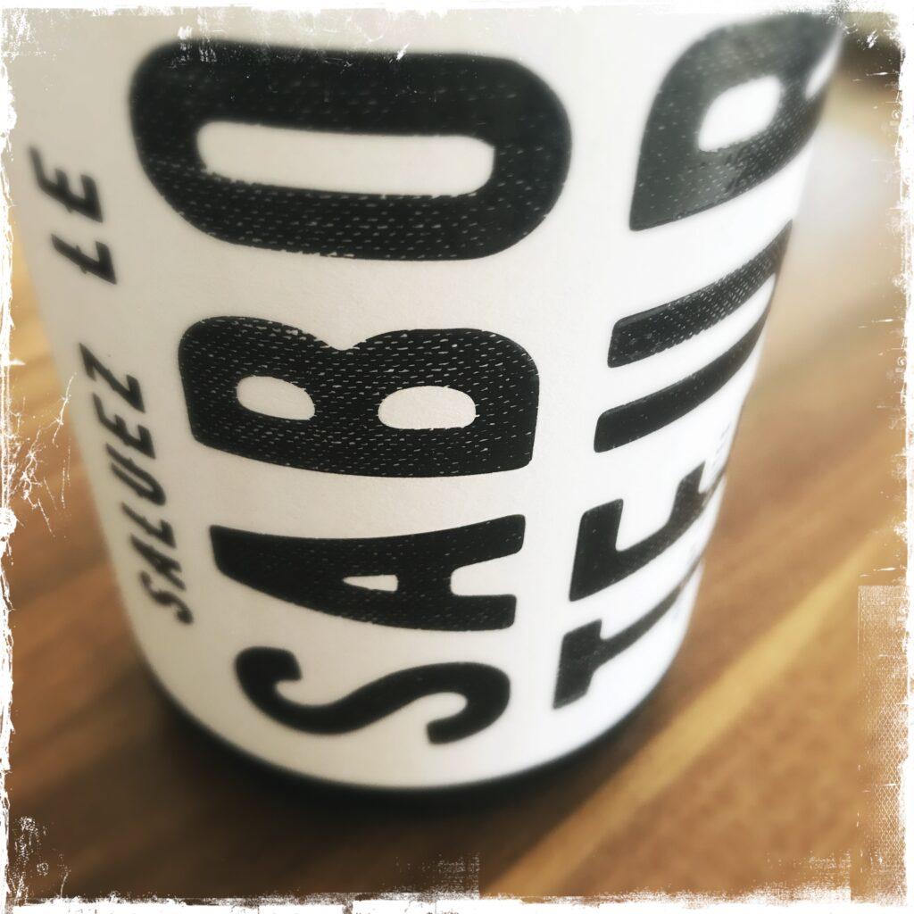 Saboteur front label